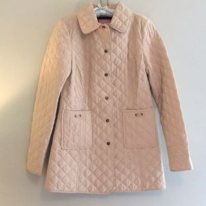 Vineyard Vines cream quilted coat, size S